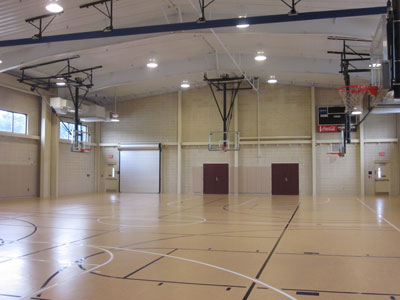 Goals and poles completed projects residential and Indoor basketball court ceiling height